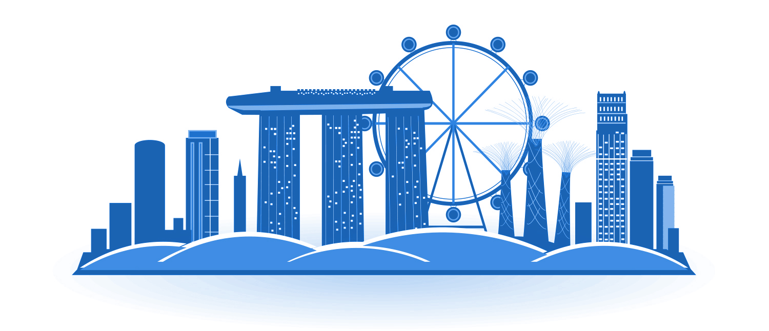 Singapore Skyline Graphic