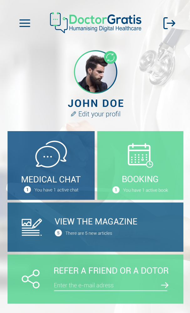 Doctor Gratis App screenshot